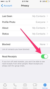 Disable read receipts