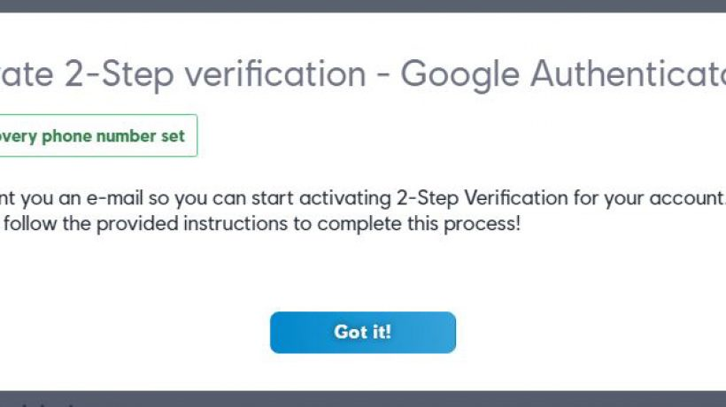 How to activate 2FA (Two-factor authentication)