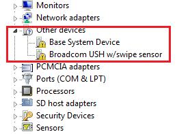 How do I fix my Windows 7 base system device